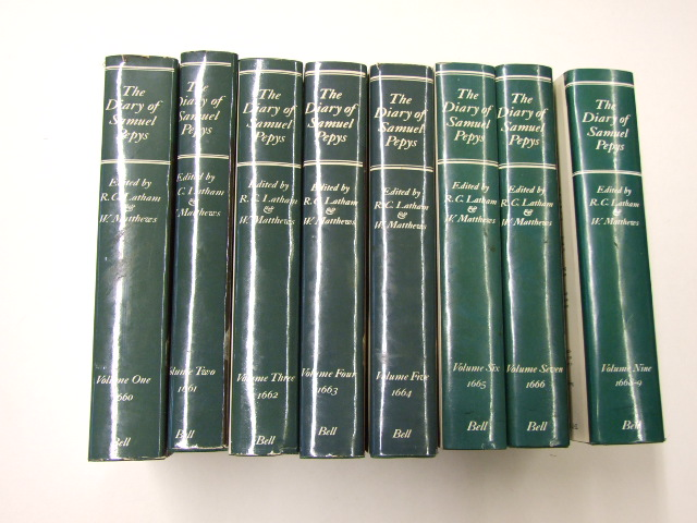 The Diary of Samuel Pepys 8 Volumes of 11 (New and Complete Transcription By Robert Latham and William Matthews)